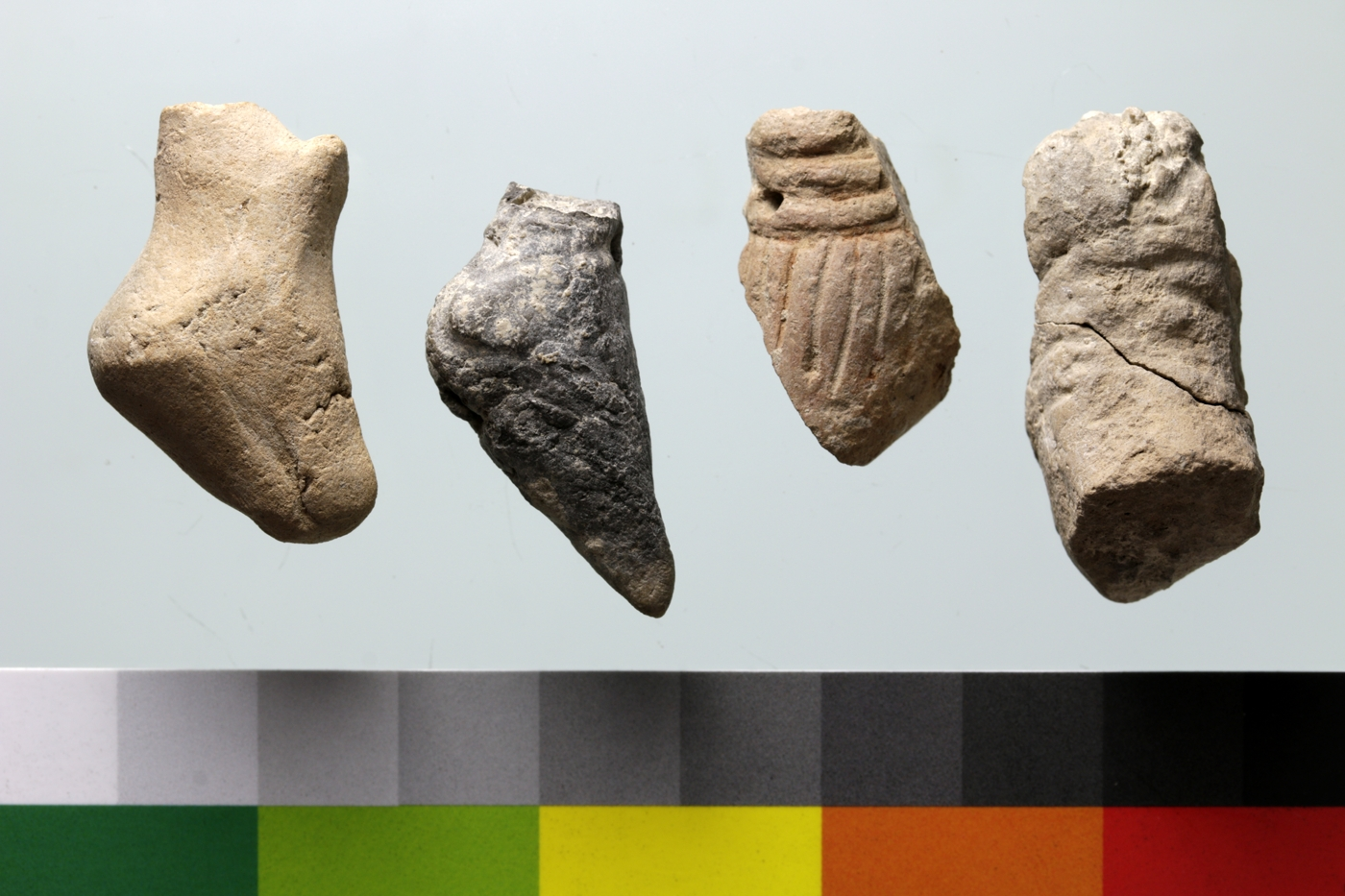 Anthropomorphic figurines from a pit in Unit H that post-dates the Meana Horizon (Anau IB).